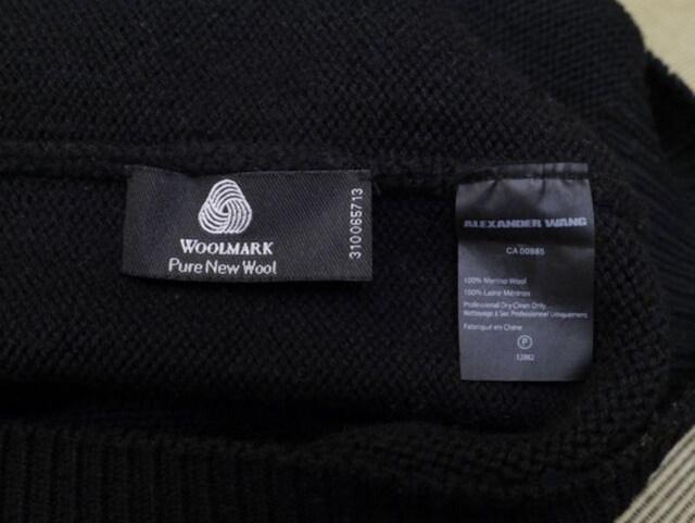 レア7万◆アレキサンダーワン 2トーン ウールニット セーター S < ブランドの