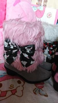 新品 ジュエルペットのブーツ  pink  15�p
