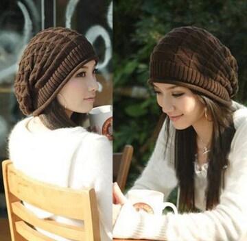 送料無料 たるみが可愛い ゆったり レディース ニット帽