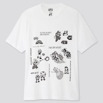 UNIQLO スーパーマリオ 35周年 モノクロ 半袖Tシャツ 3XL