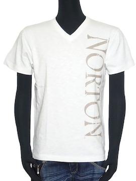 新品正規NortonバイクモノクロスラブフォトプリントTシャツL