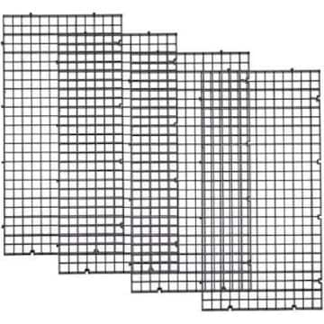 UEETEK セパレート 水槽 仕切り板 30x15cm 4点セット ブラック