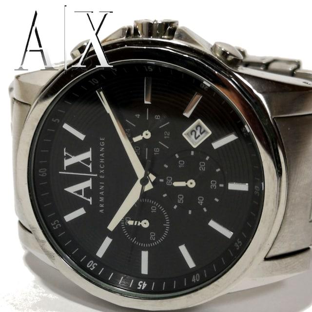 良品 アルマーニエクスチェンジ/AX【クロノグラフ】腕時計 < ブランドの