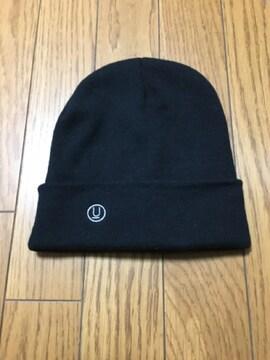 中古アンダーカバー黒ニットキャップ帽子フリーサイズ
