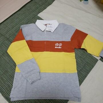 120cm AERO BUX ラガーシャツ ポロシャツ 長袖 �@