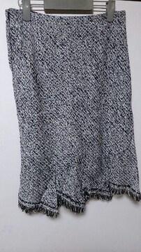 冬アイテム☆ツイード膝丈スカート♪日本製◎W70