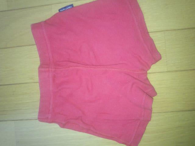 赤の半ズボン【70�a】 < キッズ/ベビーの