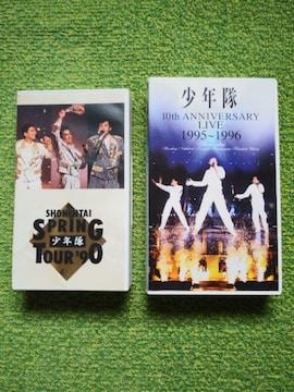 ☆少年隊☆SPRING TOUR'90★10th ANNIVERSARY LIVE★VHS★2本♪
