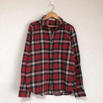 ジーユー きれい色フランネルチェックシャツ★