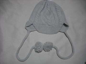 wb527 ROXY ロキシー 耳当て付き フリース ニット帽 白