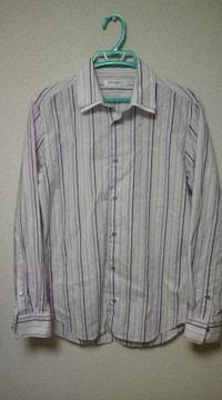 二枚襟ストライプシャツ