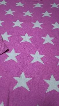 UNIQLO ユニクロ 150�p 女の子 ピンク セーター スター柄