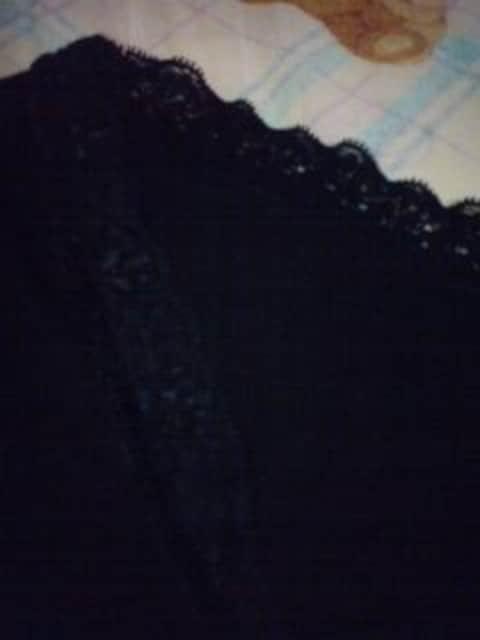 七分袖 ブラック レース 編みあげリボン CanCam美品激安 < 女性ファッションの