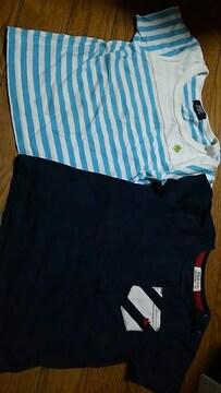 polo☆キッズ☆ボーダー&ネイビーポケットTシャツ☆二枚set
