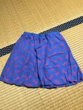 美品 リボン柄スカート キッズ 140