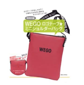 ★雑誌付録★wegoウィゴー★ロゴテープ ミニショルダーバッグ