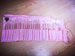 メイクブラシ 22本セット!ピンク