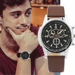 腕時計 メンズ 腕時計 ゴムベルト ファッション時計 ブラウン