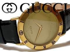 極レア 1スタ★グッチ/Gucci 【スイス製】3000.2M メンズ腕時計