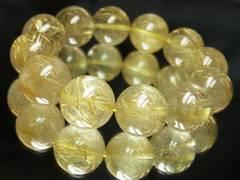 ゴールドルチル18ミリ数珠ブレスレット!!金運をアップさせる魔法の力