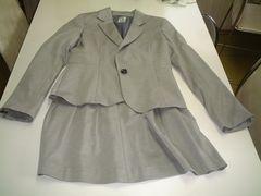 <ミッシェルクラン> スカートスーツ ライトグレー 38