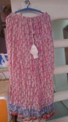 新品☆エスニックアジアン★インド綿☆ロングスカート★ピンク