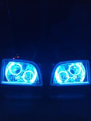 新品!100系ハイエースバン!!イカリング4灯+LEDヘッドライト!