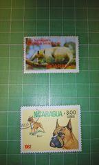 ニカラグア動物切手2枚♪