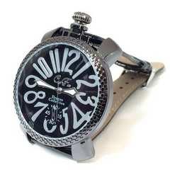 シックな黒★クラブフェイス★イタリアンデザイン腕時計メンズ
