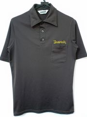 TENDERLOIN 刺繍ポリポロシャツ テンダーロイン 半袖 茶 S