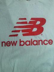 new balance ニューバランス 重ね着 風 長袖 Tシャツ ホワイト Lサイズ