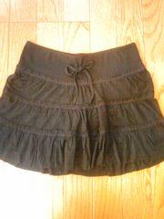ブラックスカートシンプル