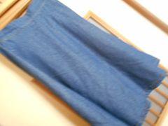 レイカズン*濃い青デニムフレアスカートF*クリックポスト164円