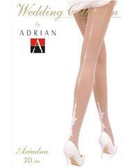 A1A)ヨーロッパ発!ADRIANブライダルストッキングM白ホワイトウェディングドレスパーティー