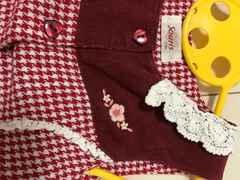 Souris☆ハートボタンが可愛い千鳥柄ジャンパースカート