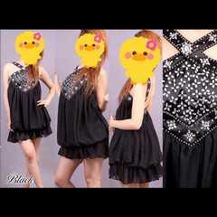 新作♪高級ドレス バルーンショートドレス
