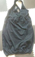 フーズフー 黒 バルーンスカート サロペット 美品