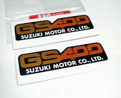 新発売GS400新品サイドカバーステッカーSUZUKI純正