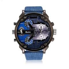 激安商品♪メンズ腕時計ファッションデザイン デニム ブルー