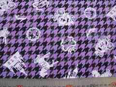 紫地千鳥格子ゴスロリシンデレラ50×110