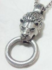【百獣の王】925 silver ライオン ペンダント ネックレス 44グラム!