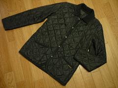 ラベンハム レディース36キルティングジャケット黒イギリス製