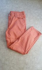 【送込】新品*大きいサイズ*ストレッチパンツ*落ち着いたオレンジ色