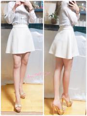 彩☆愛用品 キルティング フレアスカート ミニスカート☆