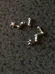 カシオペア座 星座 メタルパーツ 銀 レジン用 2個 ko01