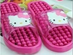 新品★キティ★浴室ベランダ★水まわり用スリッパ★濃ピンク