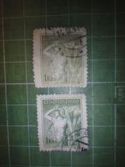 旧チェコスロバキア農作業切手2種類(CS18)♪