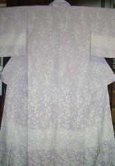 丹後ちりめん枝梅紋様の 袷のお着物 未使用品