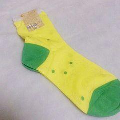 アミナコレクション*黄色スカル柄靴下*新品未使用