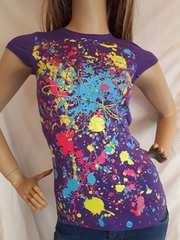 CLASS ペイント アート Tシャツ 紫 パープル
